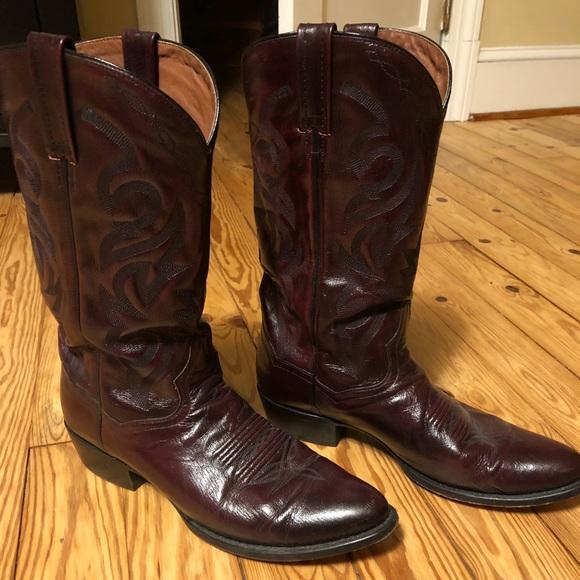 692a0c9dd54 Dan Post Black Cherry Men's Cowboy Boots